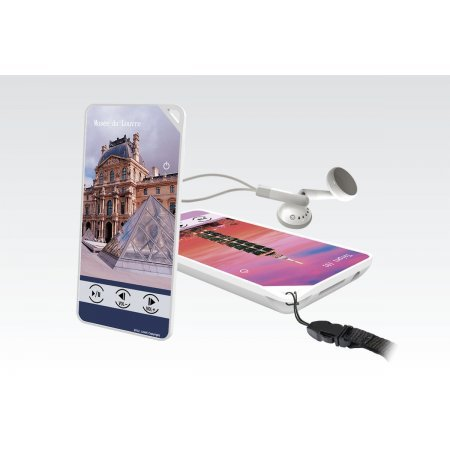 AM02, audioghid monolingv cu player Mp3, casti si card SD