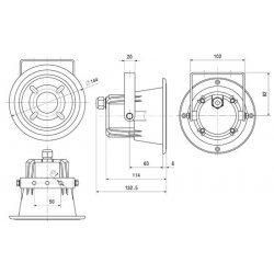 Proiector Sunet Compact 12W, IP67, DK 12T, IC Audio