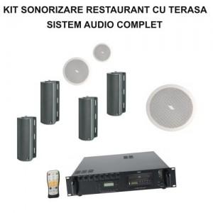 Kit sonorizare restaurant cu terasa