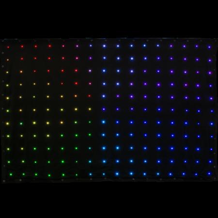 Cortina flexibila cu led, VIRTUALDRAPE, Music&Lights