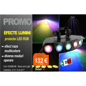 Proiector LED RGB ESABEAM, Music and Lights