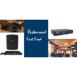 Sonorizare Fixa - Restaurant Fast Food