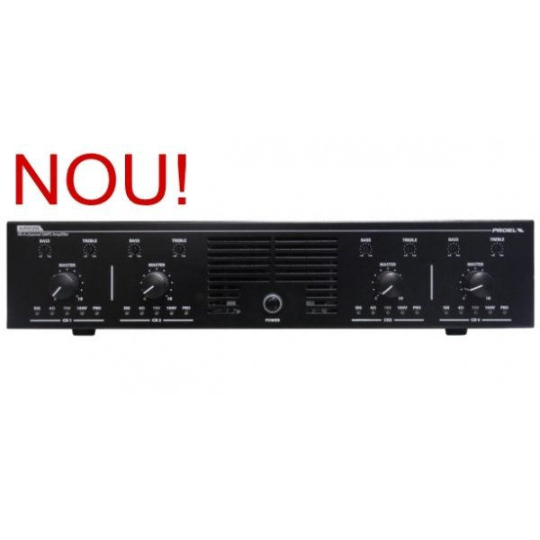 Amplificator audio  Proel AUP4125S - 4 canale independente, 125 W fiecare
