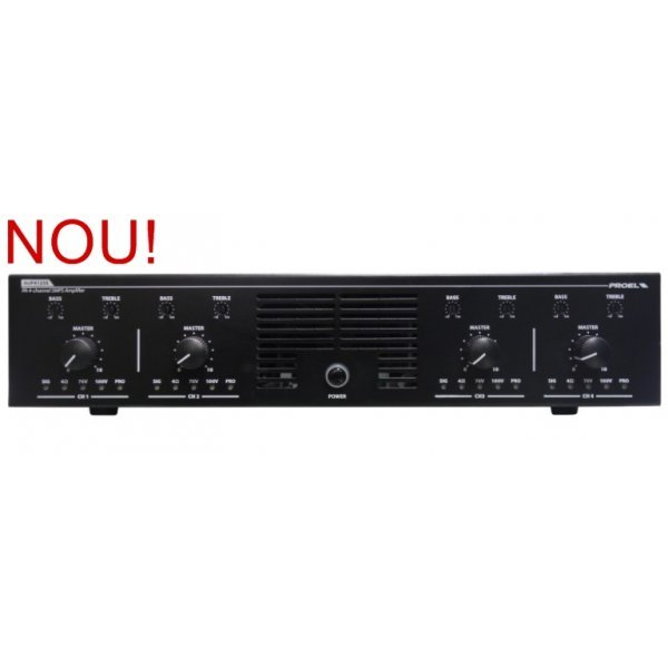 Amplificator audio 4 canale independente, 250W fiecare,  AUP4250S,Proel