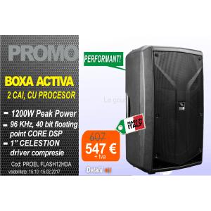 Boxa activa 2 cai 600W FLASH12HDA Proel