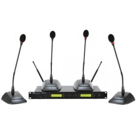 Sistem complet 4 microfoane conferinta wireless, DWSKIT