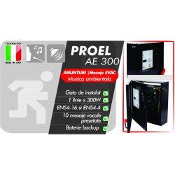 AE300 sistem preconfigurat EVAC, evacuare vocala si adresare publica 1 zona