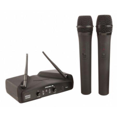 Sistem Wireless cu 2 Microfoane de Mana, WM 202DM, Proel