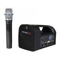 Sistem audio portabil 20 W, USB/SD Card, Bluetooth, radiomicrofon UHF, FREE5LT, Proel