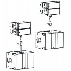 Sistem audio complet AXCA2202S PROEL 4000W