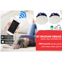 Sistem audio wireless, pentru casa controlat via smartphone