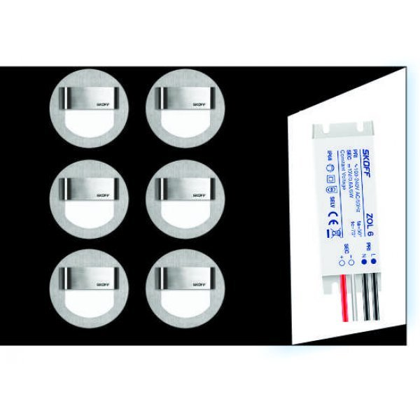SET6 lampi led trepte si hol, iluminat ambiental blue, SKOFF