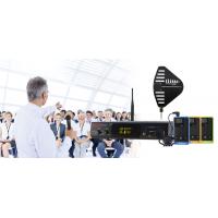Emitator fix mono canal, modulatie wideband FM, 2 intrari pentru sursa audio, TM300-ST