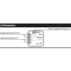 Cutie jonctiuni amplificator RGB – iluminat LED - WLP-01, 10-14V DC