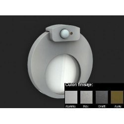 MUNA lampa led, Senzor Miscare + Crepuscular, Alimentare 230 V ac, Montaj ascuns