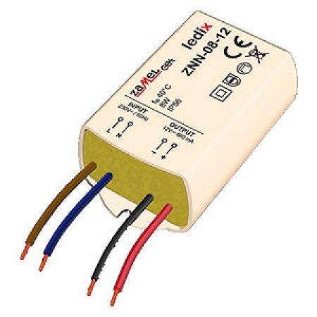 Sursa de alimentare LED-uri, 12V CC/8W, montaj aparent, ZNN-08-12