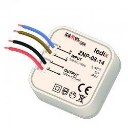 Sursa alimentare LED-uri, 12 V CC/ 8 W, incastrabila, ZNP-08-14