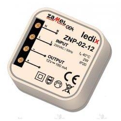 Sursa alimentare LED-uri, 12 V CC/ 2 W, incastrabila, ZNP-02-12