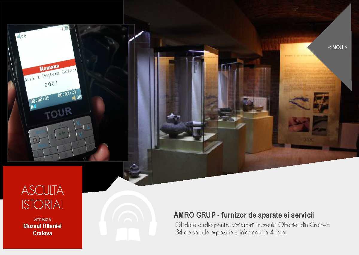 Noi audioghiduri pentru sectia de istorie-arheologie a muzeului Olteniei Craiova