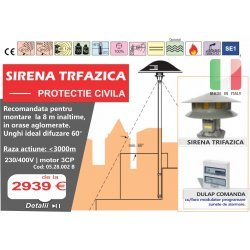 Sirena protectie civila 400D TRIFAZICA