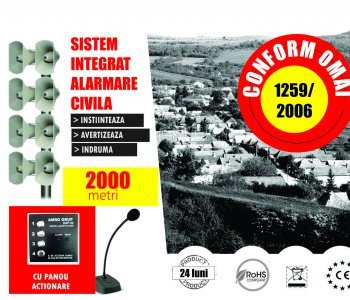 Alarmare Civila- 60 dB Raza Actiune 2000 m