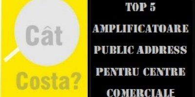 Top 5 amplificatoare ieftine pentru sonorizare comercială