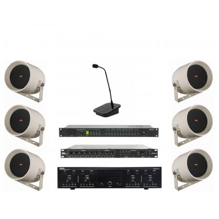 Instalatie sonorizare hala industriala maxim 1000 mp (pachet)