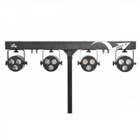 Kit 4 proiectoare led interior 3x6 W, RGBW/FC, SG LEDKITHP3C, SAGITTER PROEL, pentru evenimente interioare