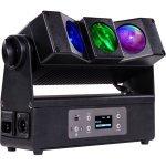 Proiector Portabil cu 3 LED-uri x 10W RGBW / FullColor, Control DMX Wifi, MOBIBLAST