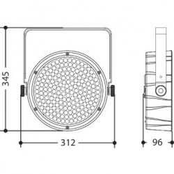 Proiector 180 LEd-uri, Design Superslim, BATPAR180