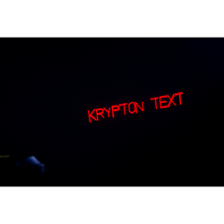 Laser 150 mW red + 50 mW green + 100 mW blue, cu editare text, KRYPTONTEXT, Music & Lights