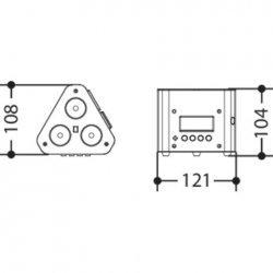 Corp de iluminat triunghiular cu 3 LED uri x 3W FullColor pentru Interior TRUSSPOD3T