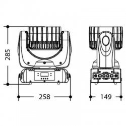 Lumini Disco Moving Head cu Dimmer Liniar, Efecte Strobe, ELFIN VW