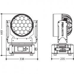 Proiector cu 19 Led-uri x15W, pentru iluminat exterior/interior, DIAMOND19
