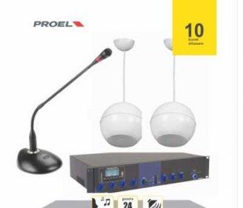 Instalatie sonorizare hala industriala maxim 200 mp (pachet)