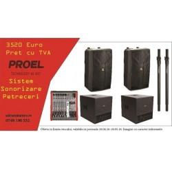 Sistem de sonorizare pentru petreceri Proel