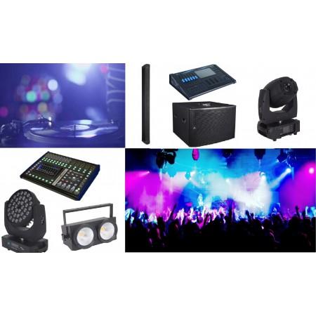 sistem audio si lumini club, sistem sonorizare si iluminat pentru club, club018 de la amro electronic, AX12C, SW2100A, TP T2208, TP T2208,  SG QUIVER, SG BLINDER2L, SG LTSPOTR5, SG CLWASH, SG QUARTZ100, sisteme line array, subwoorfe, moving head, proiecto