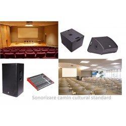 Pachet complet pentru sonorizare camin cultural, SISTEM AUDIO CAMIN CULTURAL 2020