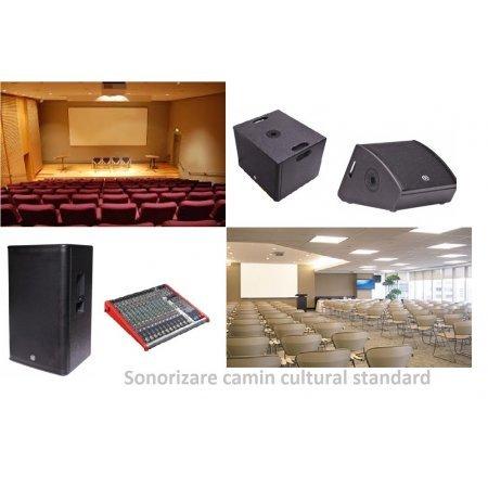 Pachet complet pentru sonorizare camin cultural, SISTEM AUDIO CAMIN CULTURAL 2018