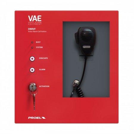 Panou cu microfon complet monitorizat pentru pompieri certificat EN54-16 Proel DBEVF