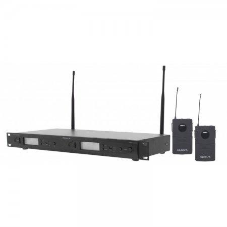 Kit dual radiomicrofon PLL/UHF cu 2 microfoane Headset, display, RMW1000DH, Proel