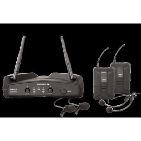 Kit Radiomicrofoane tip Casca, WM202DH, Proel