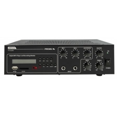Mixer amplificator, cu Player si Recorder Integrate, AMP03VR, Proel