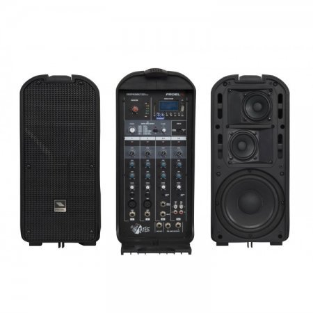 Sistem de sunet FREEPACK65LT –  cu 2 difuzoare, un mixer si un mp3 player