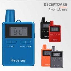 Receptor mobil cu casti mono sau biauriculare, sisteme tour guide si interpretariat, HP2401R