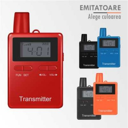 Emitator portabil sisteme tour guide si interpretariat, HP2401T