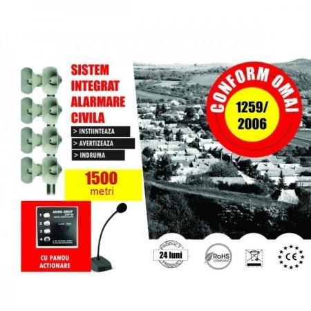 Alarmare Civila - 60 dB Raza Actiune 1500 m