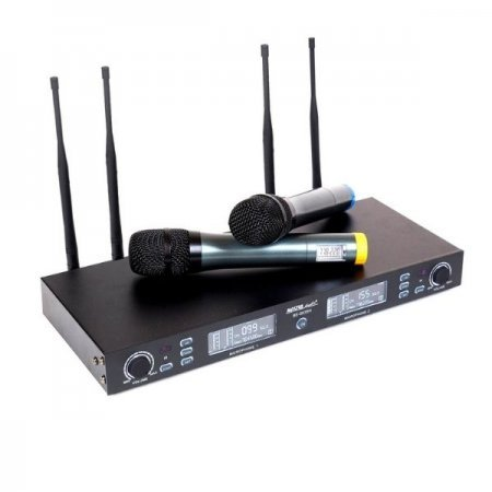 Set radiomicrofon, 2 microfoane de mana, 100m raza actiune, True Diversity, BE5035H, Master Audio
