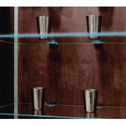 Set 2 buc. Clips-uri cu LED-uri pentru rafturi din sticla, grosime 5-8 mm, KL1