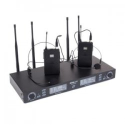 Sistem radio microfon 2 canale, cu  2 microfoane wireless headset, PLL/UHF, True Diversity, BE5035T
